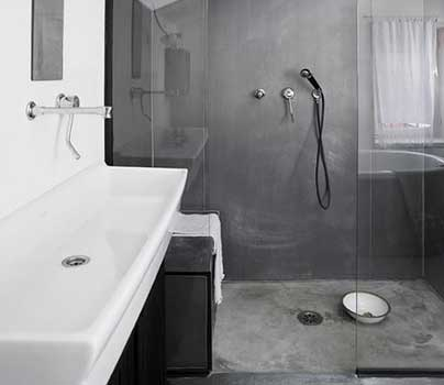 kit beton cir salle de bain finest meuble salle de bain beton cir beton cir dans salle de bain. Black Bedroom Furniture Sets. Home Design Ideas
